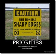 sign has sharp edges