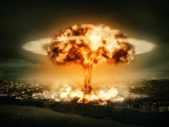 Explosion of nuclear bomb